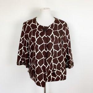 Focus 2000 Women's Size 14 Linen Jacket Giraffe